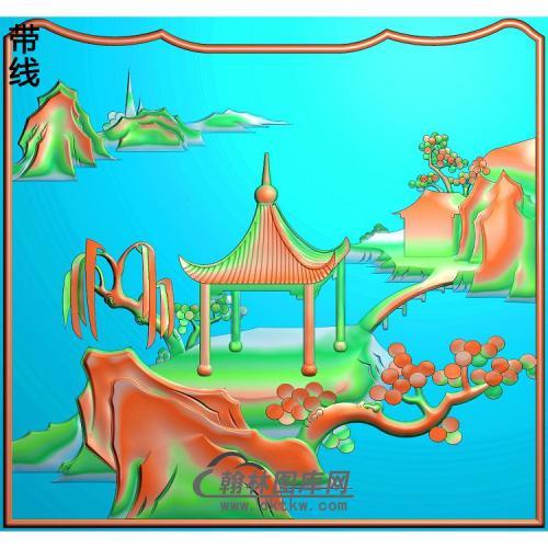 瑶台盛宴大床靠背小精雕图(SSJZ-224)