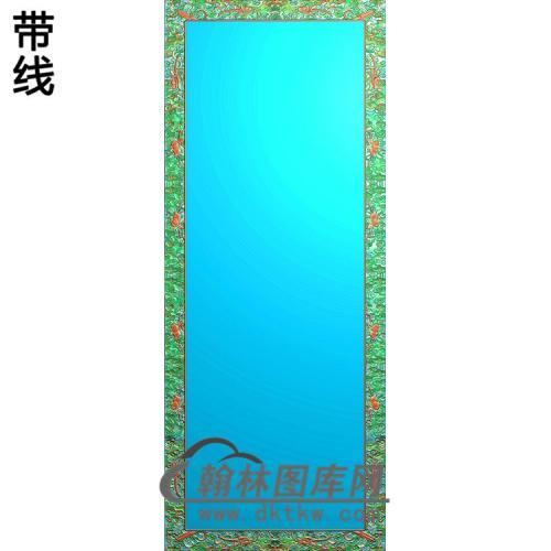 ZSJH-787-百子大门板如意卷书角精雕图(ZSBK-021)
