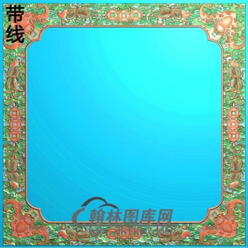 ZSJH-789-顶蝙蝠2卷书角44拼合精雕图(ZSBK-022)