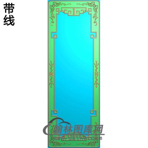 八仙顶箱柜边框精雕图(ZSBK-027)