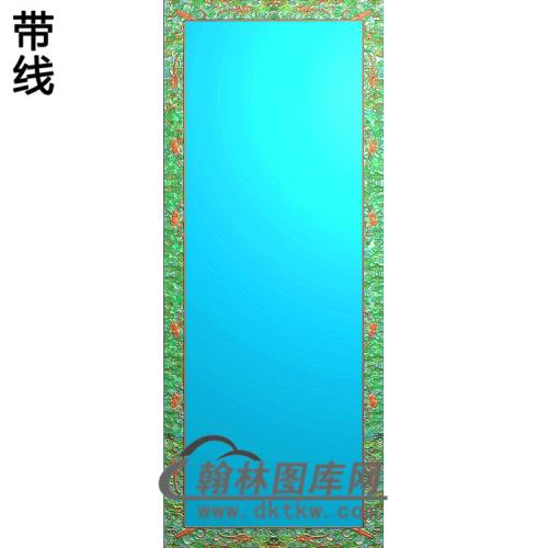 百子大门板如意卷书角精雕图(ZSBK-028)