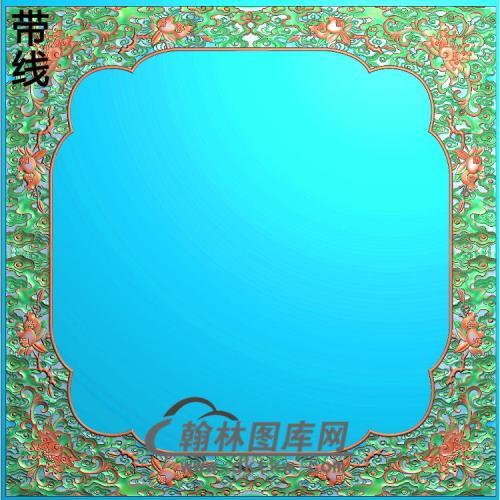 顶西潘莲3卷书角精雕图(ZSBK-041)
