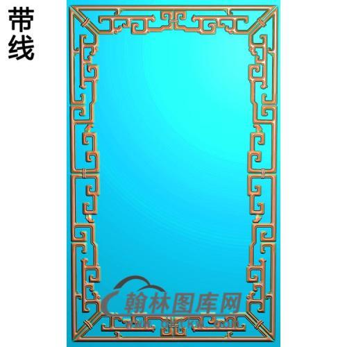 拐子龙边框精雕图(ZSBK-043)