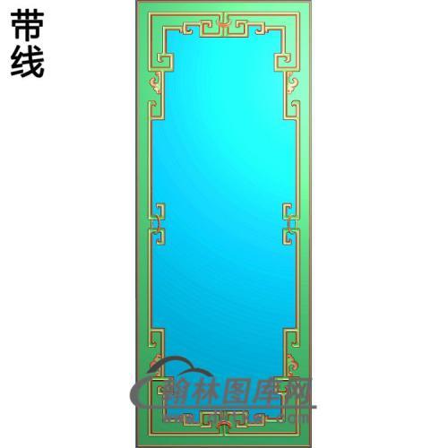 花鸟门板精雕图(ZSBK-044)