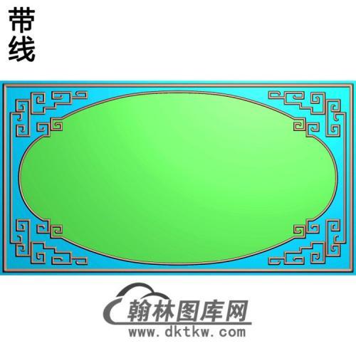 龙凤大边框精雕图(ZSBK-049)