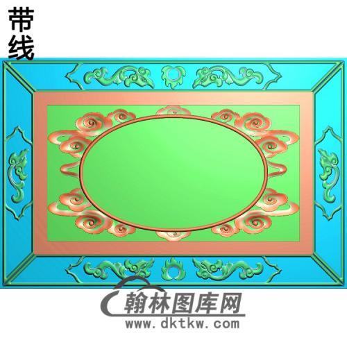 龙盒边框精雕图(ZSBK-050)