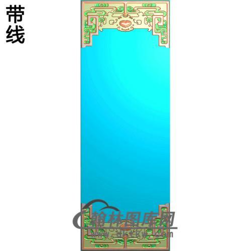 四季花顶箱柜大门板菊花-边框2精雕图(ZSBK-057)