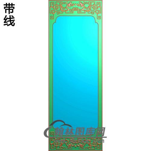 四季花顶箱柜大门板菊花-边框精雕图(ZSBK-056)