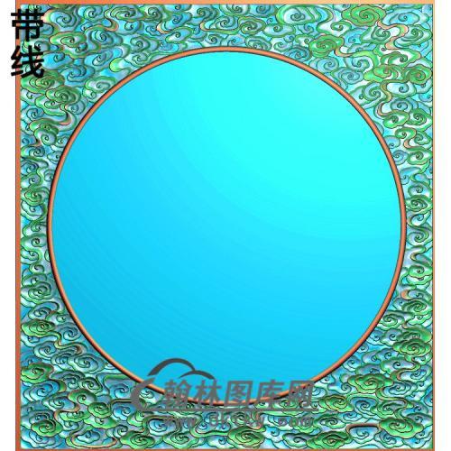 小门云框精雕图(ZSBK-058)