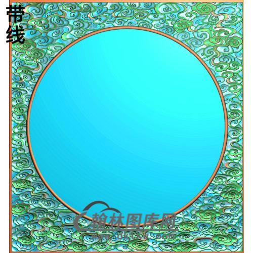 云圆边框精雕图(ZSBK-064)