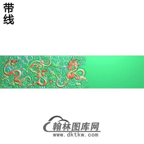 L-090水纹龙宝座背板精雕图(SL-004)