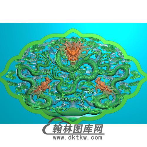 三龙精雕图(SL-022)