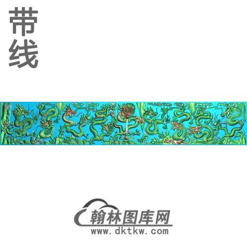CTBB-1449-九龙背板精雕图(JL-001)