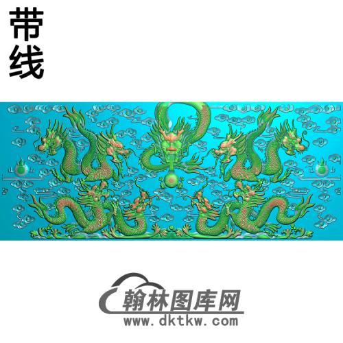九龙1带线精雕图(JL-027)