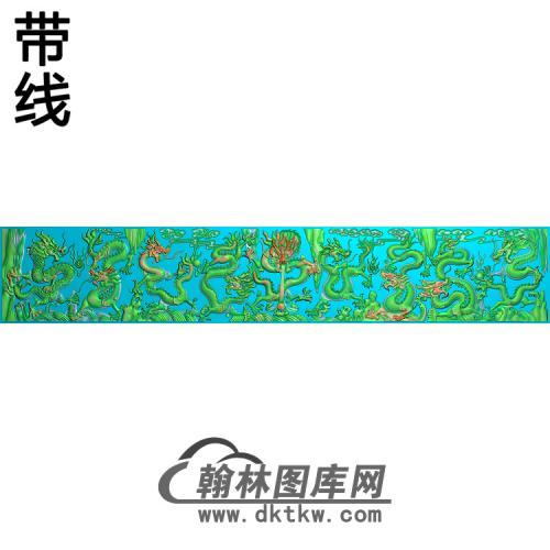 九龙带线精雕图(JL-029)