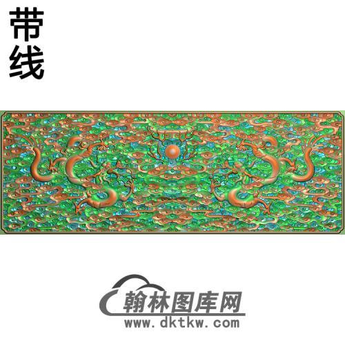 L-459龙面板带线精雕图(SL-058)