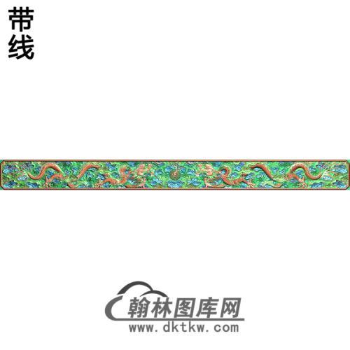 L-1506云龙字台侧面板带麟精雕图(SL-076)