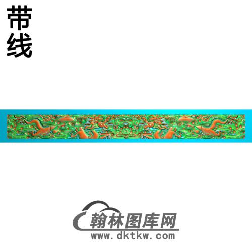 L-8011-龙带线精雕图(SL-090)