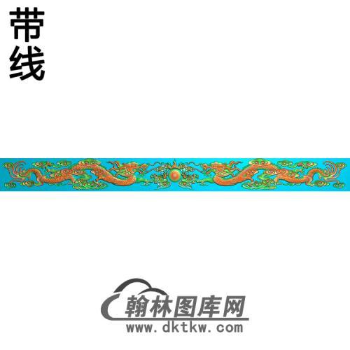 LF-066-双龙带线精雕图(SL-098)