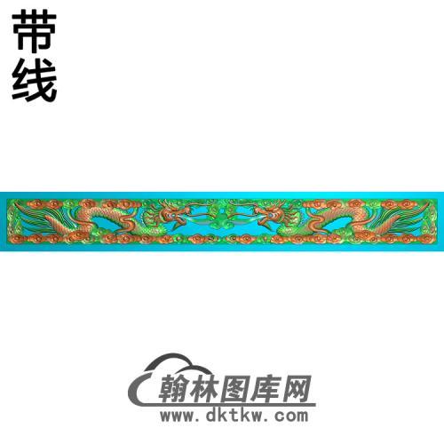 LF-073-双龙带线精雕图(SL-100)