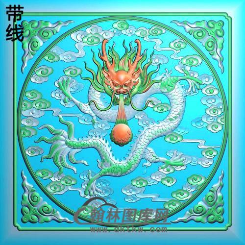 l-303-茶盒龙精雕图(DL-084)