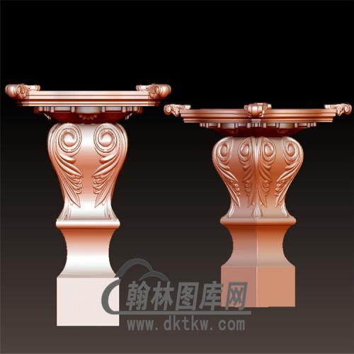 欧式柱子底座立体圆雕图(YZH-049)