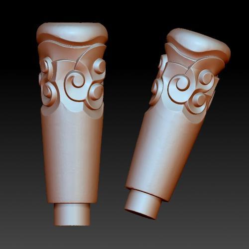 祥云柱立体圆雕图(YZH-059)