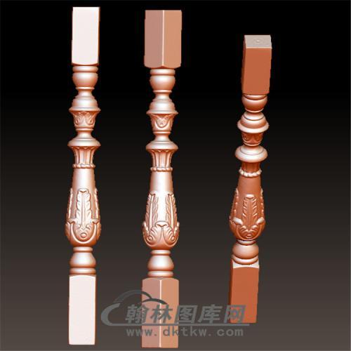 桌腿6—雕花(规则3轴)(YLT-017)