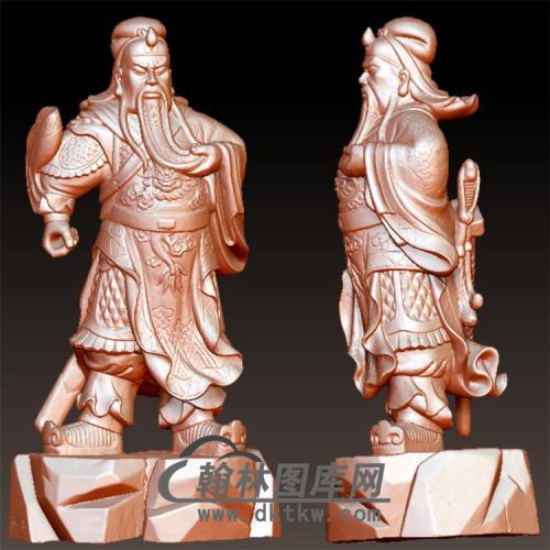 013关公立体圆雕图(YGG-6)
