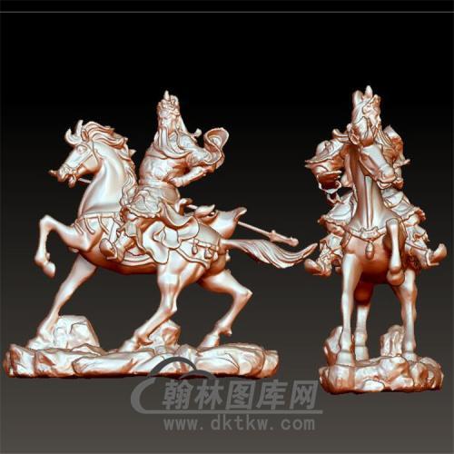 骑马关公立体圆雕图(YGG-32)