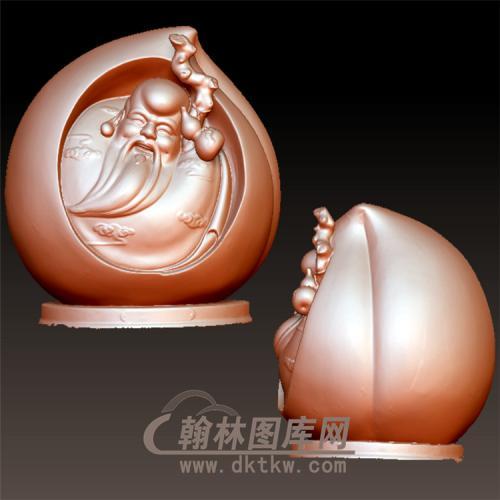桃寿星立体圆雕图(YSX-26)