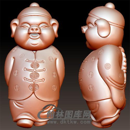 猪财主立体圆雕图(YCS-001)