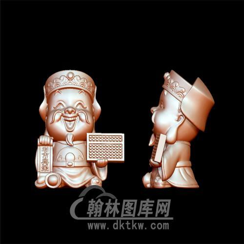 北路财神立体圆雕图(YCS-012)
