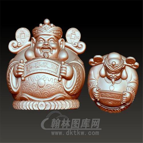 恭喜发财财神立体圆雕图(YCS-020)