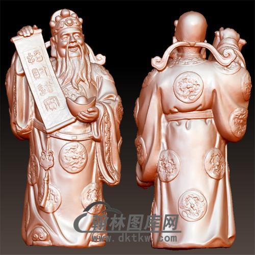 招财进宝财神雕刻图 STL三维立体 3d 打印图片模型 木雕佛像精雕图片106(YCS-022)