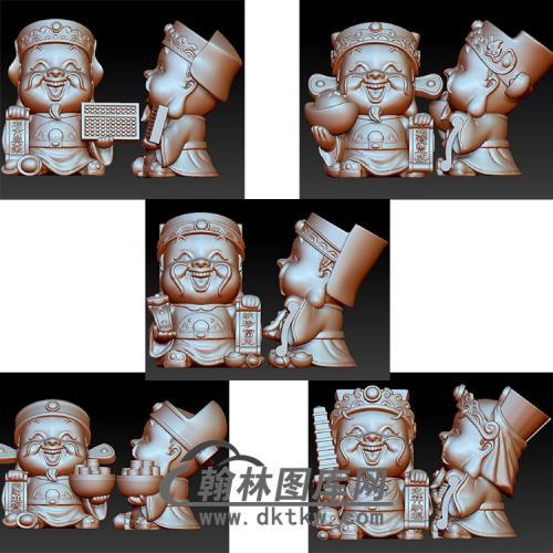 五路财神立体圆雕图(YCS-028)