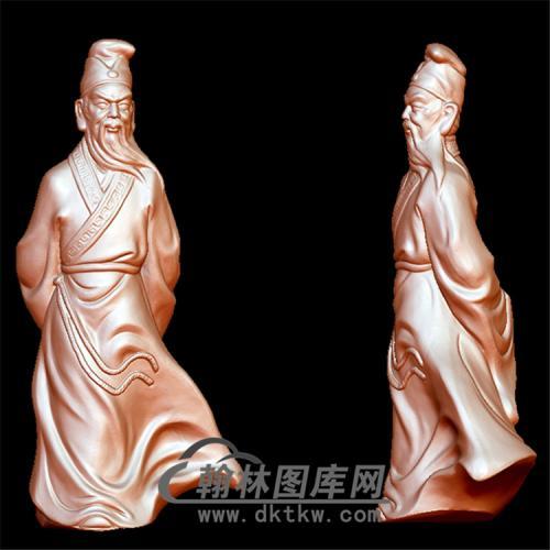 苏轼立体圆雕图(YGD-011)