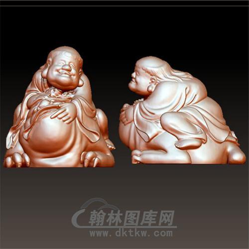 刘海戏金蟾立体圆雕图(YGD-012)
