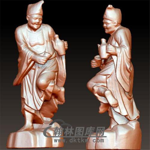 活佛济公立体圆雕图(YGD-013)