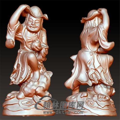刘海戏金蟾立体圆雕图(YGD-016)