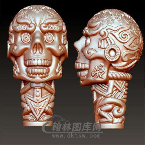 卡通骷髅挂件立体圆雕图(YGD-017)