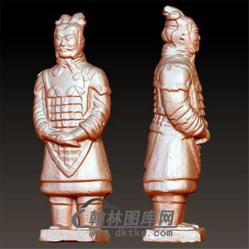 兵马俑站像立体圆雕图(YGD-018)