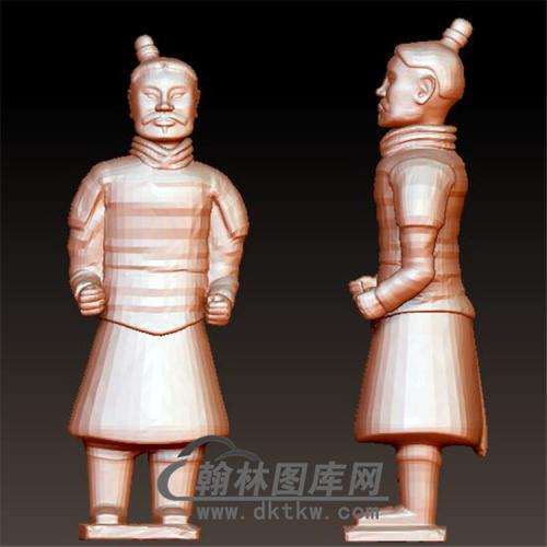 兵马俑立体圆雕图(YGD-019)