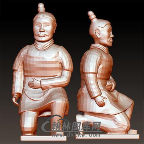 兵马俑立体圆雕图(YGD-020)