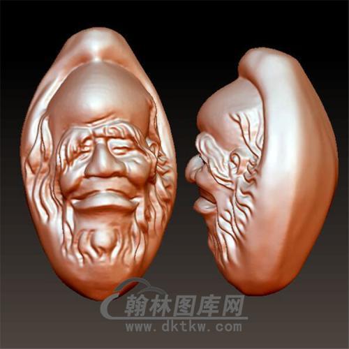 老人头像立体圆雕图(YGD-022)