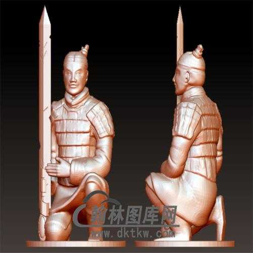 兵马俑立体圆雕图(YGD-027)
