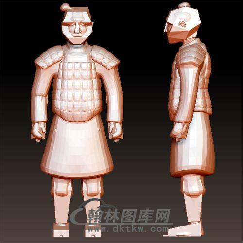 兵马俑立体圆雕图(YGD-028)