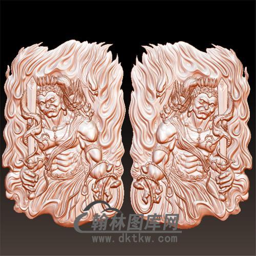 不动明王挂件立体圆雕图(YGD-030)