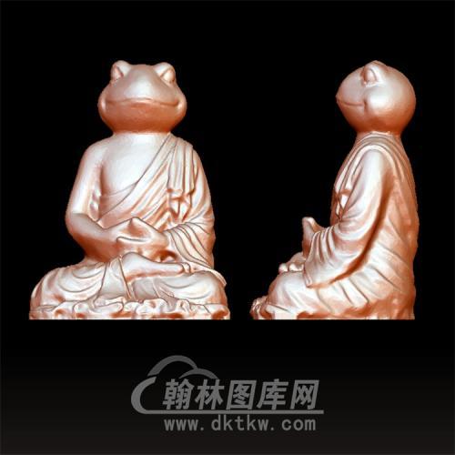 青蛙佛像立体圆雕图(YGD-036)