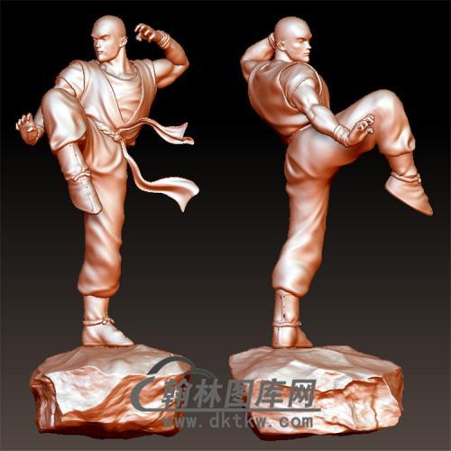 少林和尚立体圆雕图(YGD-037)